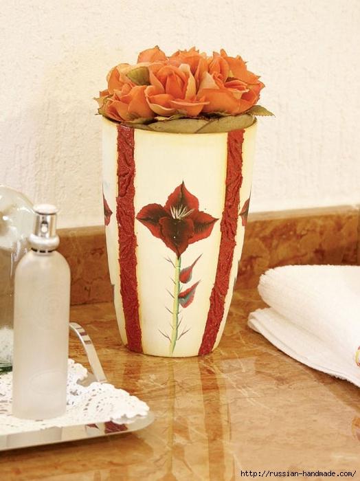 Роспись стеклянной вазы для ванной комнаты. Фото мастер-класс (1) (524x700, 247Kb)