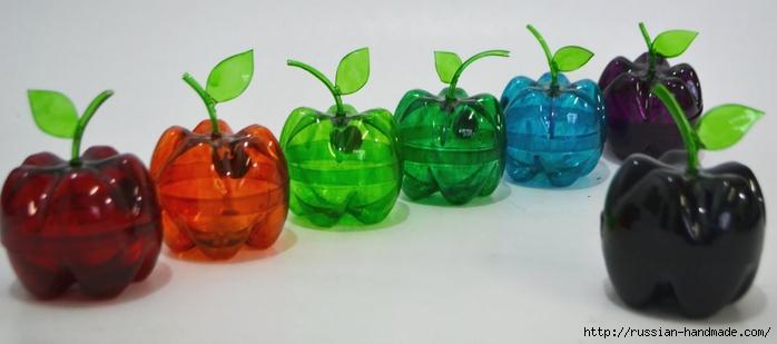 яблочки из пластиковых бутылок (5) (700x309, 127Kb)