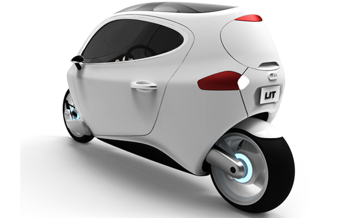 Motors' C-1 electric гибрид мотоцикла и автомобиля фото 3 (700x435, 94Kb)