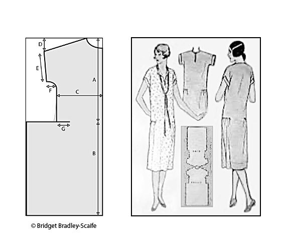 Платья в стиле 20 годов выкройка
