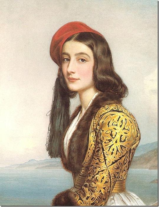 (Katerina Rosa Botzaris, daughter of Markos Botsaris,1841.). (539x700, 278Kb)