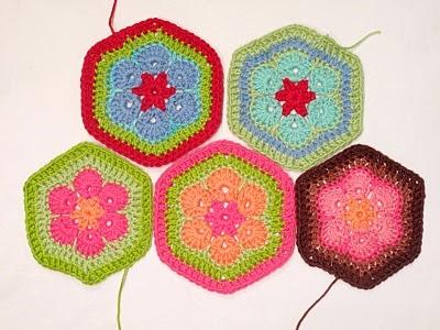 Связать крючком цветочный шестигранный мотив по очень подробному уроку