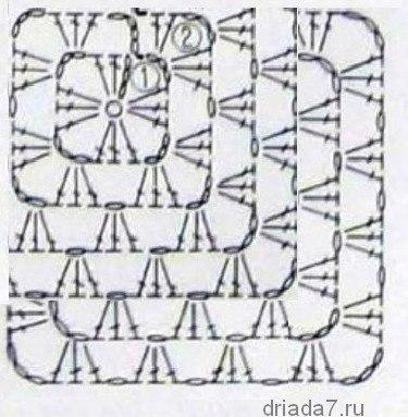 Бабусхкин квадрат схема от угла