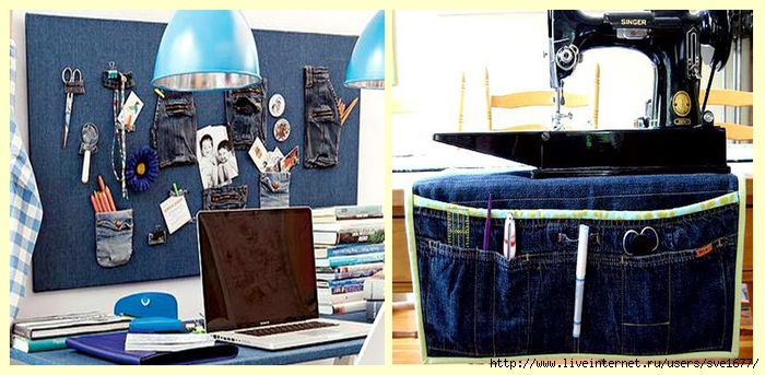 Ключница из джинсов своими руками