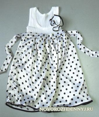 Сшить платье без выкройки для девочек
