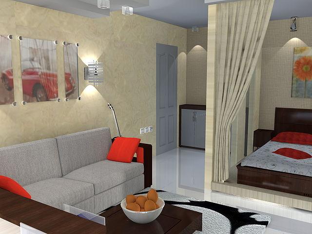 Дизайн интерьера однокомнатных квартир малогабаритных