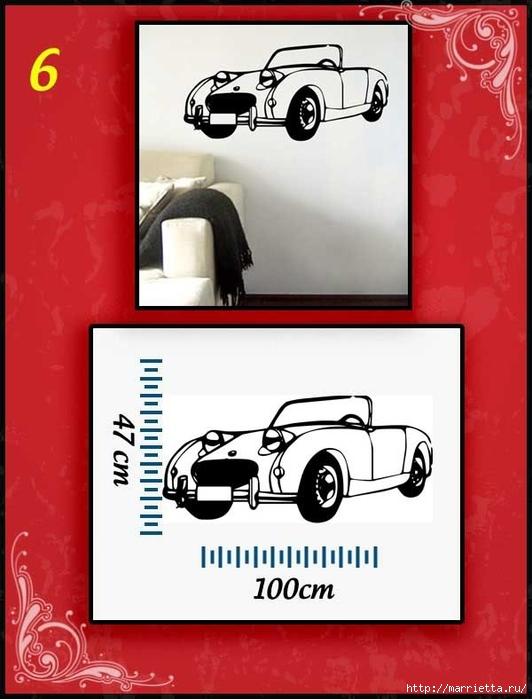 Ретро АВТОМОБИЛЬ на стене. Шаблоны автомобилей (6) (532x700, 190Kb)