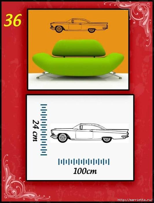 Ретро АВТОМОБИЛЬ на стене. Шаблоны автомобилей (36) (532x700, 175Kb)