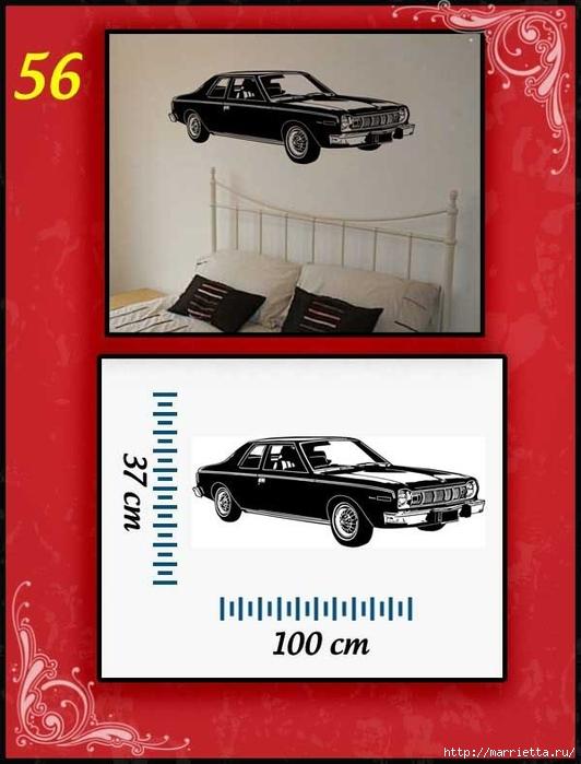 Ретро АВТОМОБИЛЬ на стене. Шаблоны автомобилей (56) (532x700, 192Kb)
