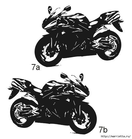 шаблоны ретро автомобилей и мотоциклов для стены (6) (534x564, 111Kb)