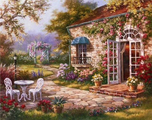Райское наслаждение от Sung Kim 1940 - South Korea. ПЕЙЗАЖИ (3) (640x505, 284Kb)