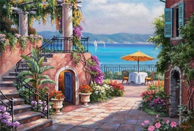 Райское наслаждение от Sung Kim 1940 - South Korea. ПЕЙЗАЖИ (5) (640x433, 227Kb)