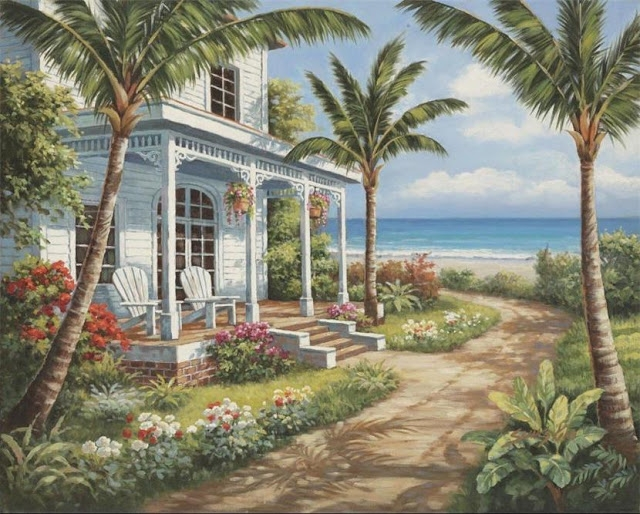 Райское наслаждение от Sung Kim 1940 - South Korea. ПЕЙЗАЖИ (9) (640x514, 280Kb)