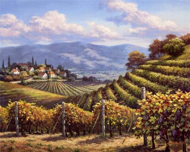 Райское наслаждение от Sung Kim 1940 - South Korea. ПЕЙЗАЖИ (11) (640x513, 268Kb)