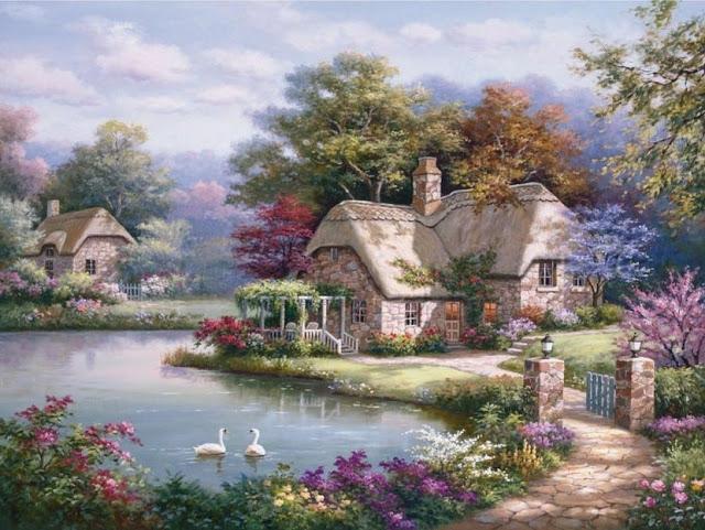 Райское наслаждение от Sung Kim 1940 - South Korea. ПЕЙЗАЖИ (21) (640x481, 266Kb)