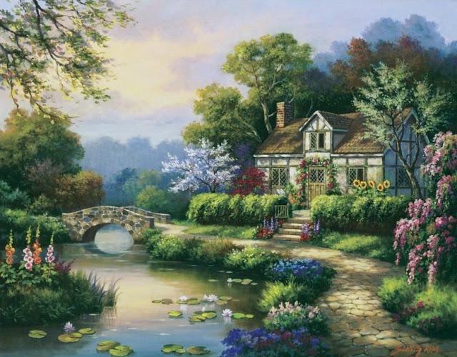 Райское наслаждение от Sung Kim 1940 - South Korea. ПЕЙЗАЖИ (23) (640x500, 277Kb)