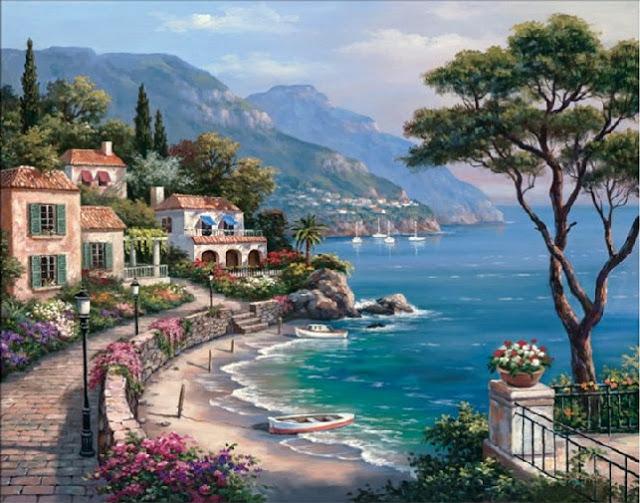 Райское наслаждение от Sung Kim 1940 - South Korea. ПЕЙЗАЖИ (52) (640x503, 265Kb)