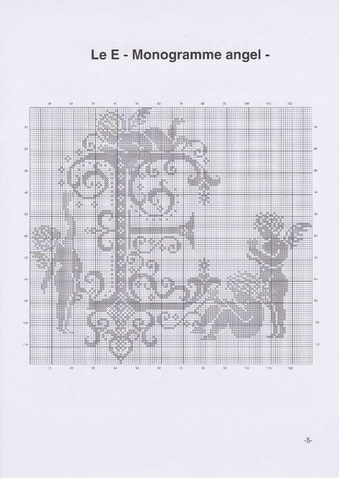 Вышиваем крестиком. МОНОГРАММЫ С АНГЕЛАМИ (8) (495x700, 167Kb)