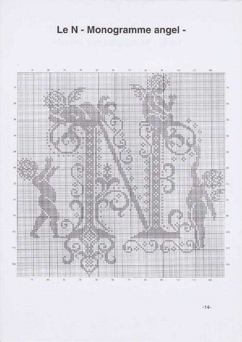 Вышиваем крестиком. МОНОГРАММЫ С АНГЕЛАМИ (17) (495x700, 200Kb)