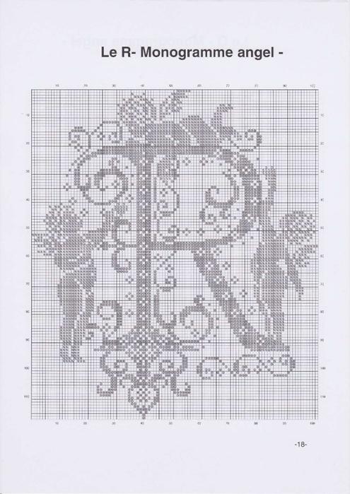 Вышиваем крестиком. МОНОГРАММЫ С АНГЕЛАМИ (21) (495x700, 208Kb)