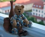 Вязаный медведь. Попова Е.И.