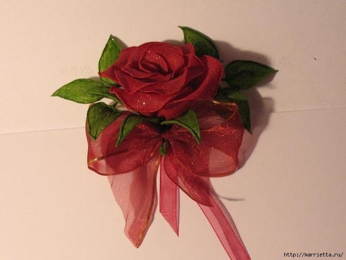 Очень красивые розы из гофрированной бумаги (22) (700x525, 183Kb)