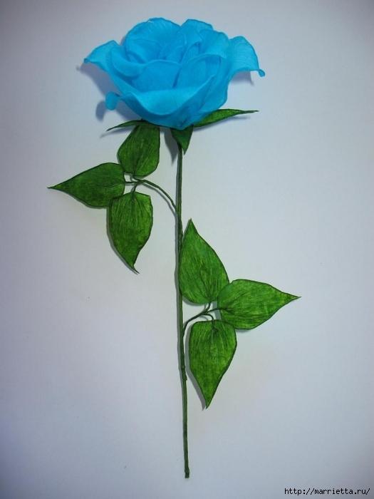 Очень красивые розы из гофрированной бумаги (34) (525x700, 168Kb)