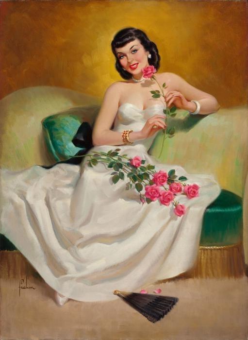женщина и цветы (511x700, 117Kb)