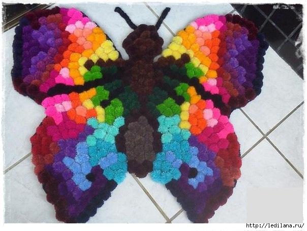 коврик бабочка (604x455, 162Kb)