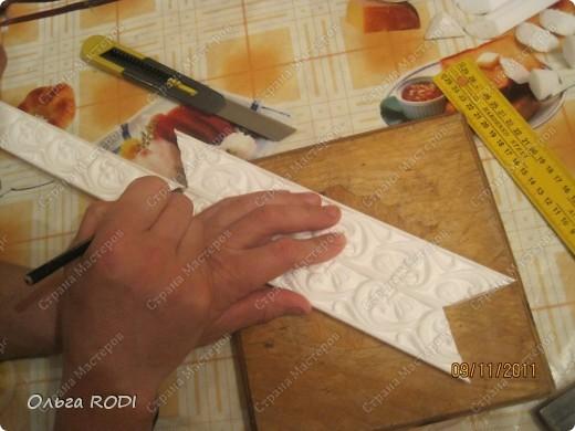 Багет для картины из потолочного плинтуса своими руками