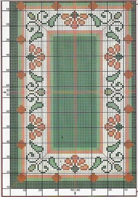 Схемы для вышивки коврика крестом 758