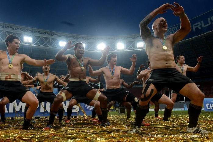 Традиционный танец на Кубке мира по регби