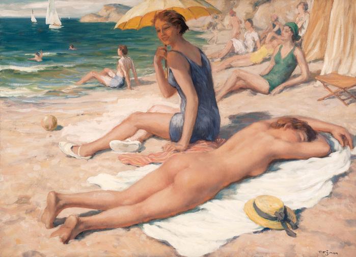 Simon, T. Frantisek (1877-1942)-girls-on-the-beach (1) (700x505, 158Kb)