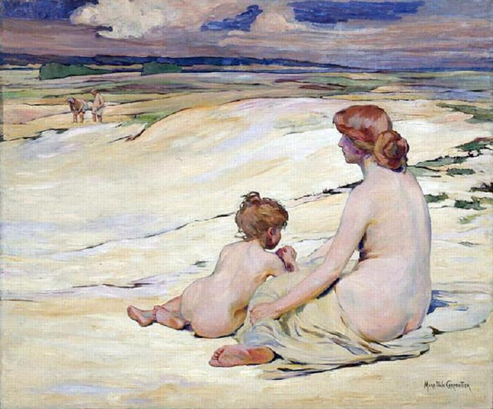sur le sable  CARPENTIER Marie-Paule (700x581, 67Kb)