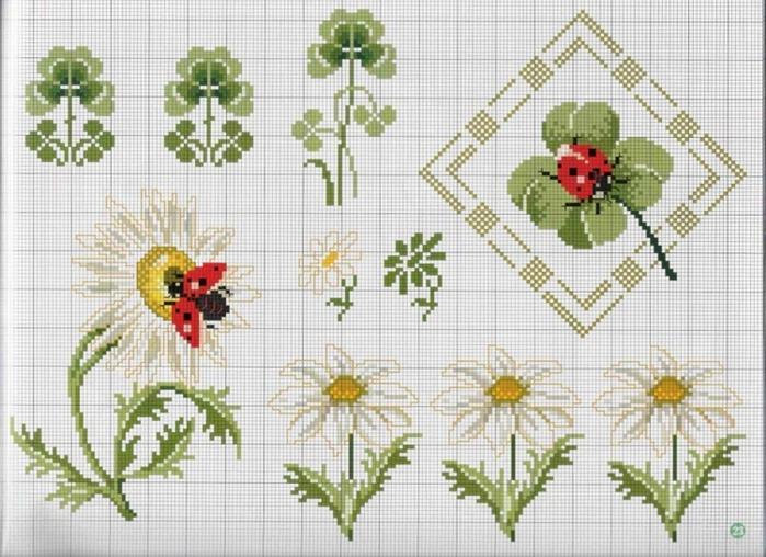 Схемы вышивки крестом салфетки и скатерти