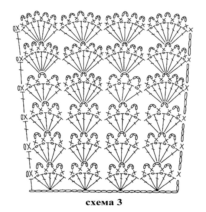 Узор для вязания детского платья 264