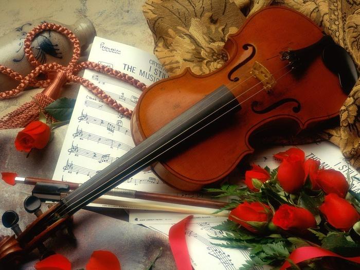 Музыкальные картинки цветы 2