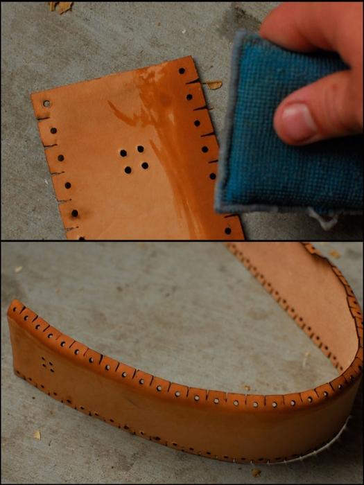Как сшить сумочку из натуральной кожи. Фото мастер-класс и шаблон (4) (525x700, 233Kb)