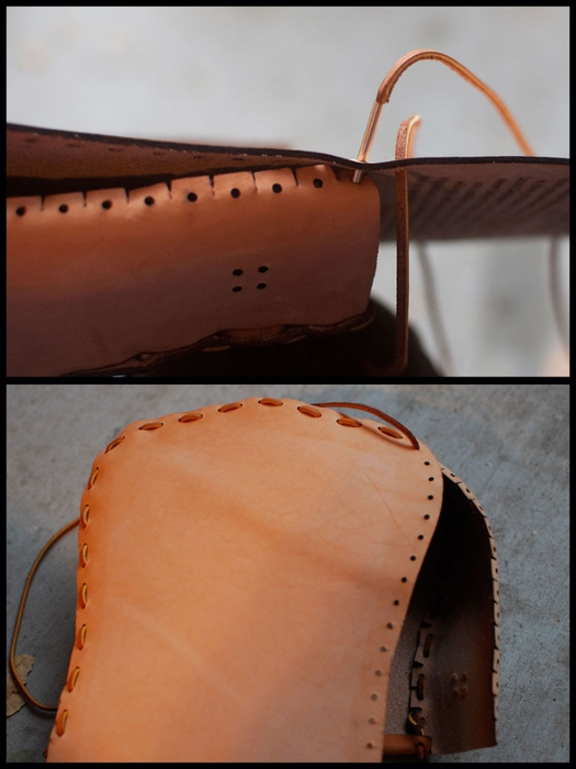 Как сшить сумочку из натуральной кожи. Фото мастер-класс и шаблон (10) (525x700, 184Kb)