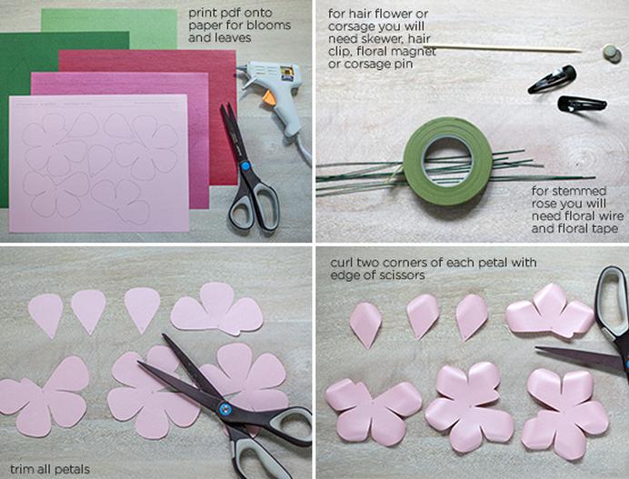 Розы из бумаги. Готовые шаблоны для распечатки (2) (692x527, 828Kb)