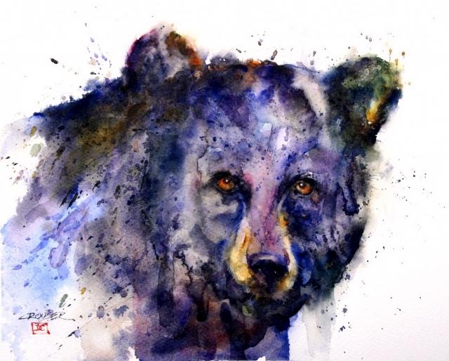 Dean Crouser картины животных акварелью 1 (640x514, 267Kb)