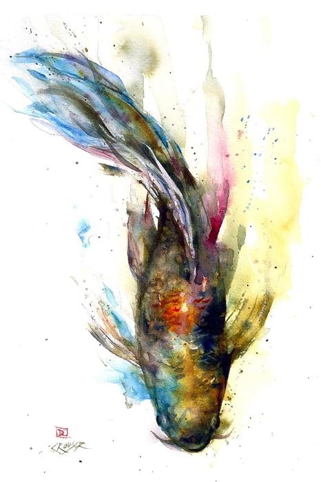 Dean Crouser картины животных акварелью 8 (466x700, 177Kb)