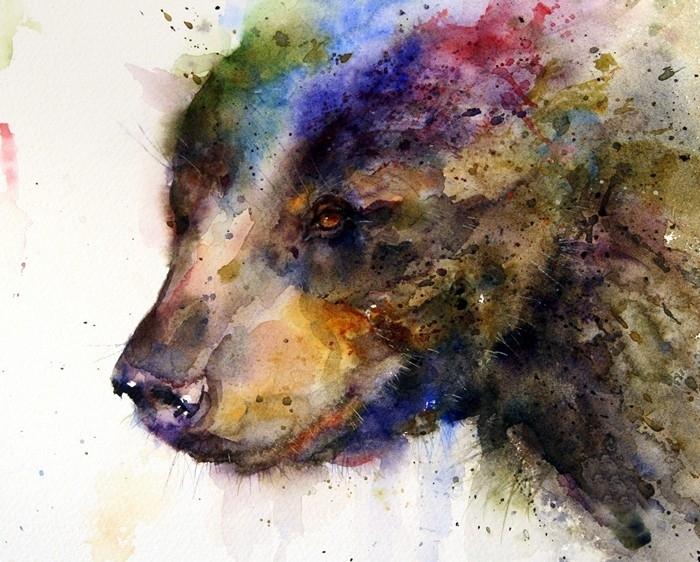Dean Crouser картины животных акварелью 14 (700x562, 292Kb)