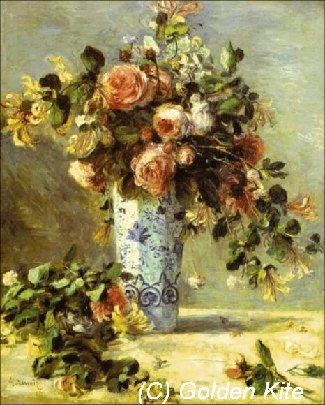 942 Roses and Jasmine in a Delft Vase (466x580, 154Kb)