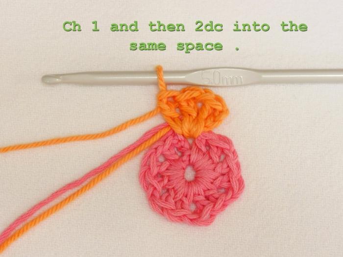 Цветочный фрагмент крючком АФРИКАНСКИЙ ЦВЕТОК для вязания игрушек (23) (700x525, 223Kb)
