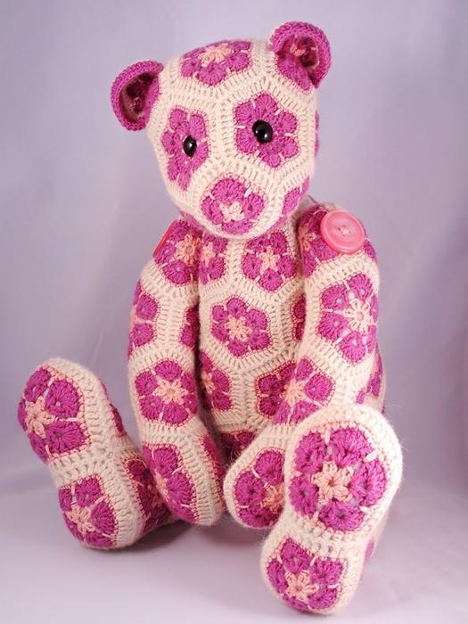 """LiveInternet.ru.  Цветочный фрагмент крючком  """"Африканский цветок """" можно использовать для вязания подушек..."""