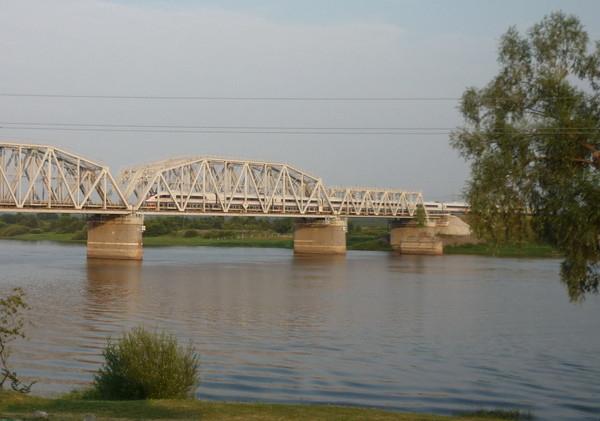 сапсан на мосту Волхова (600x421, 169Kb)
