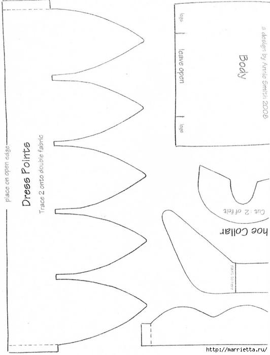 Весенние феечки - тильды. Выкройки (3) (532x700, 104Kb)