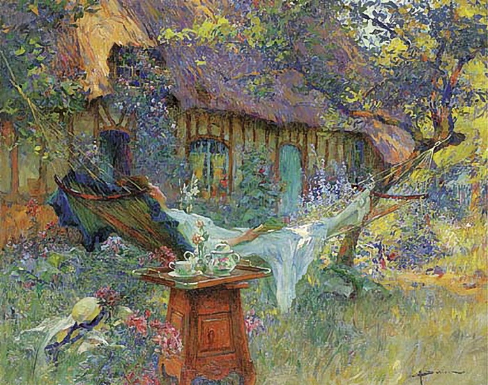 Henri Gaston Darien - A lazy afternoon (700x552, 383Kb)