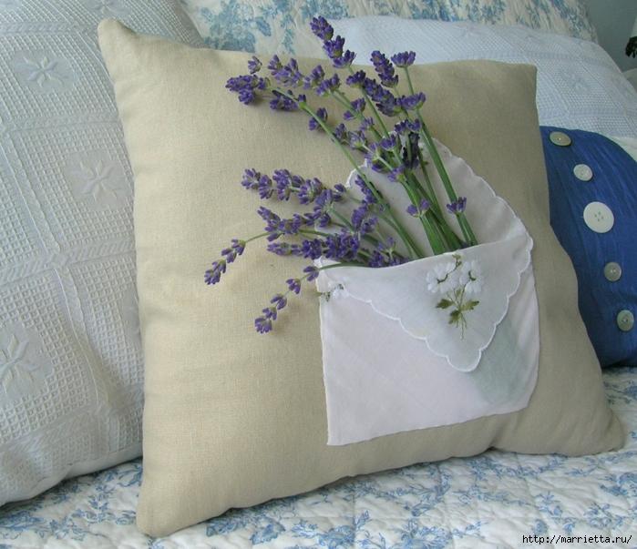 Кармашек с лавандой для подушки из носового платка (11) (700x603, 330Kb)